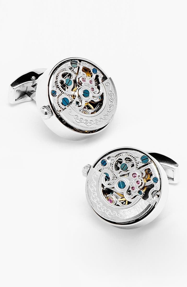 PENNY BLACK 40 'Kinetic Watch' Cuff Links, Main, color, 040