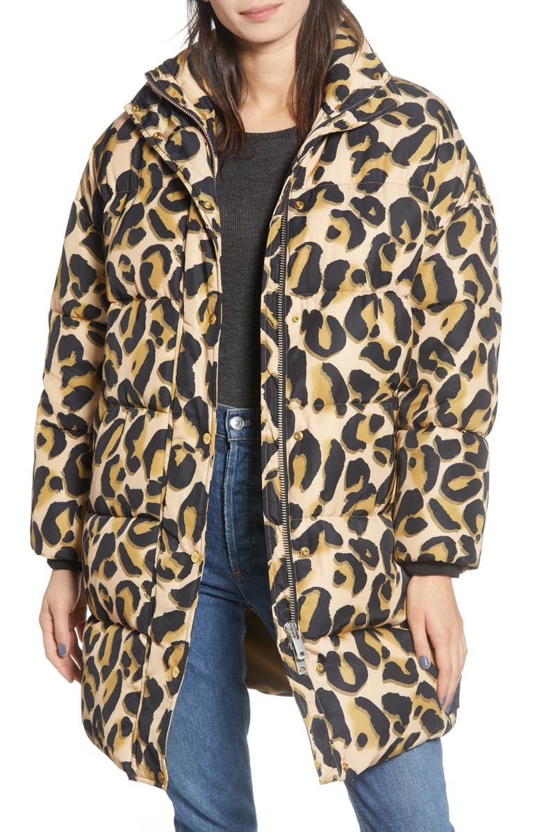 SCOTCH & SODA Animal Print Puffer Jacket, Main, color, 250
