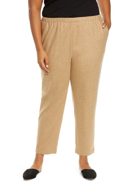 Image of Eileen Fisher Tapered Wool Ankle Pants