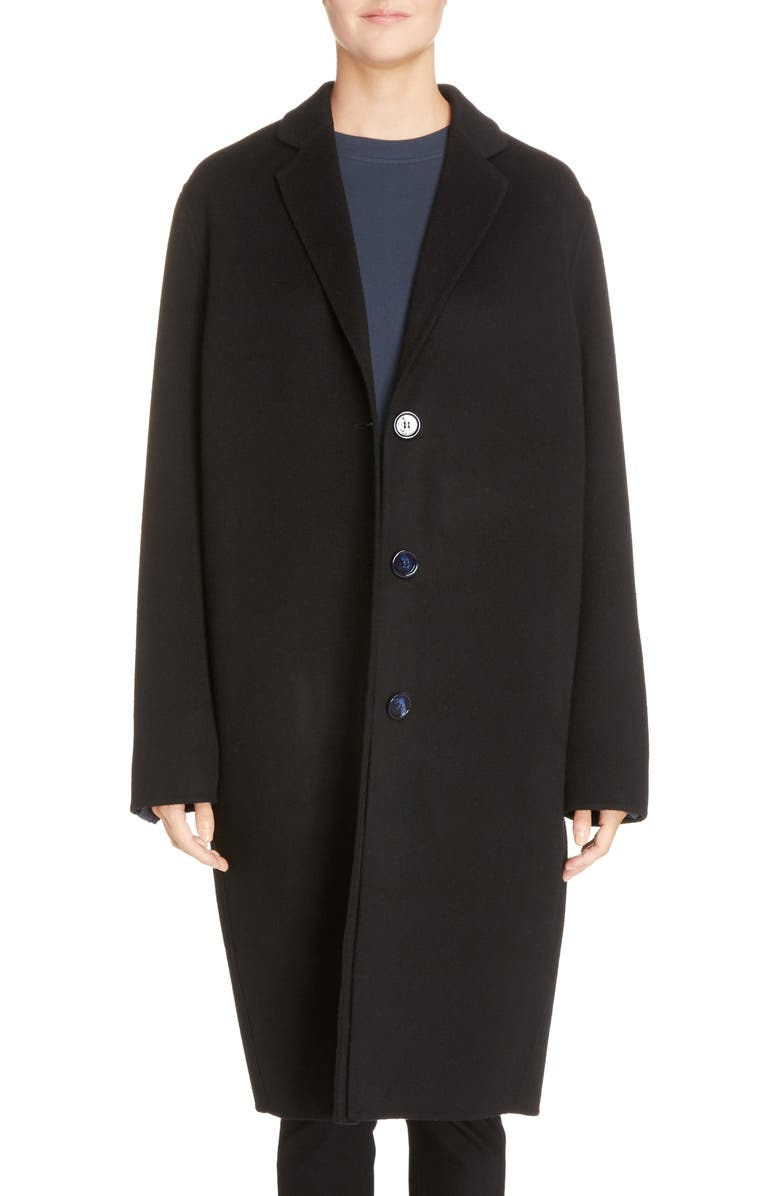 ACNE STUDIOS Avalon Wool & Cashmere Coat, Main, color, 001
