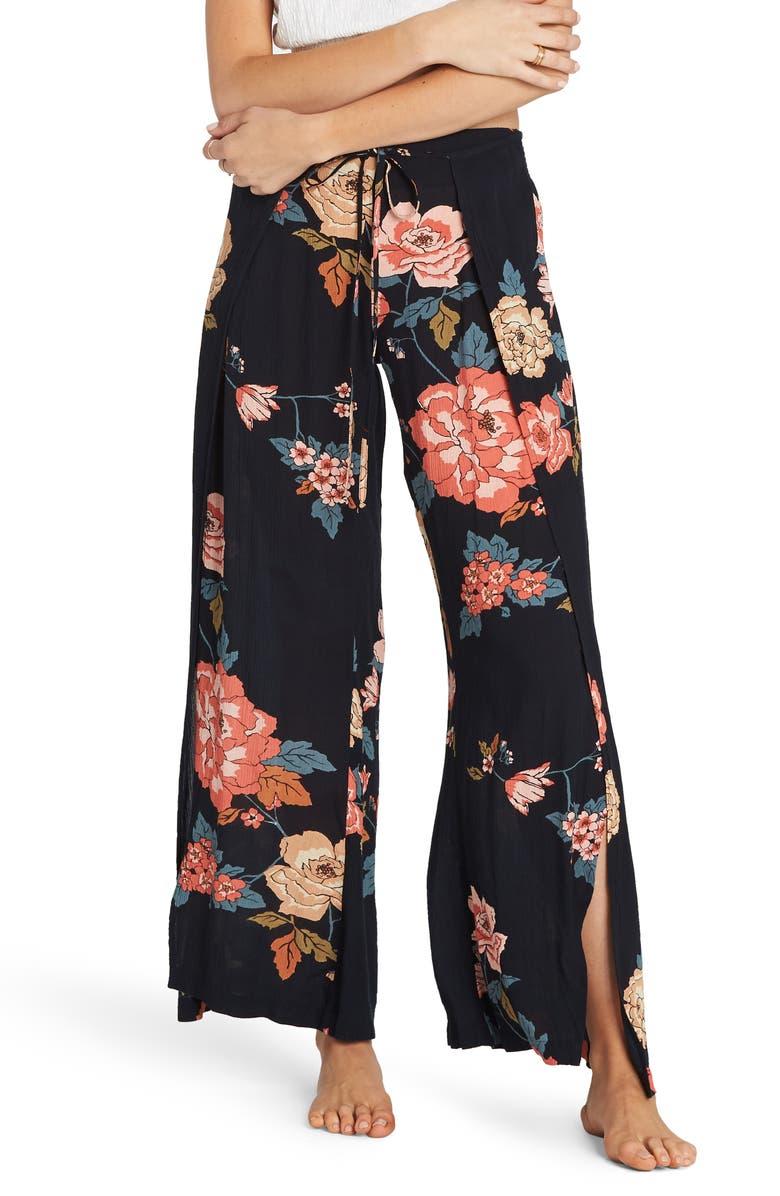 BILLABONG Adventure Spirit Print Wrap Front Pants, Main, color, 001