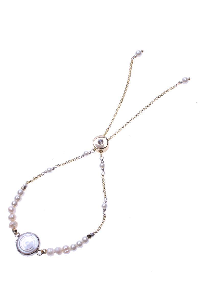 NAKAMOL DESIGN Freshwater Pearl Bracelet, Main, color, WHITE