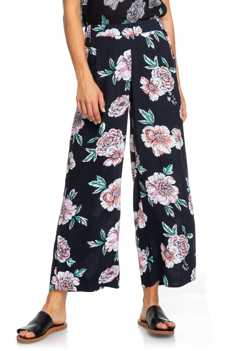 Roxy Midnight Avenue Floral Print Pants