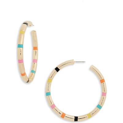Bp. Multi Stripe Hoop Earrings