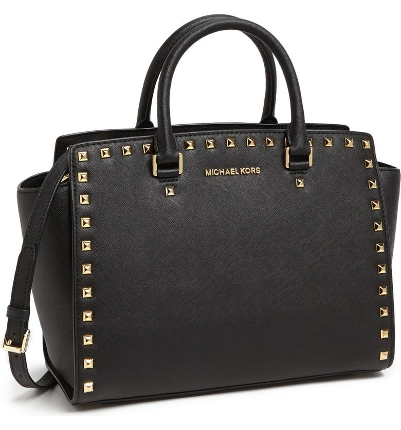 5e009191baab 'Selma Stud - Large' Saffiano Leather Satchel
