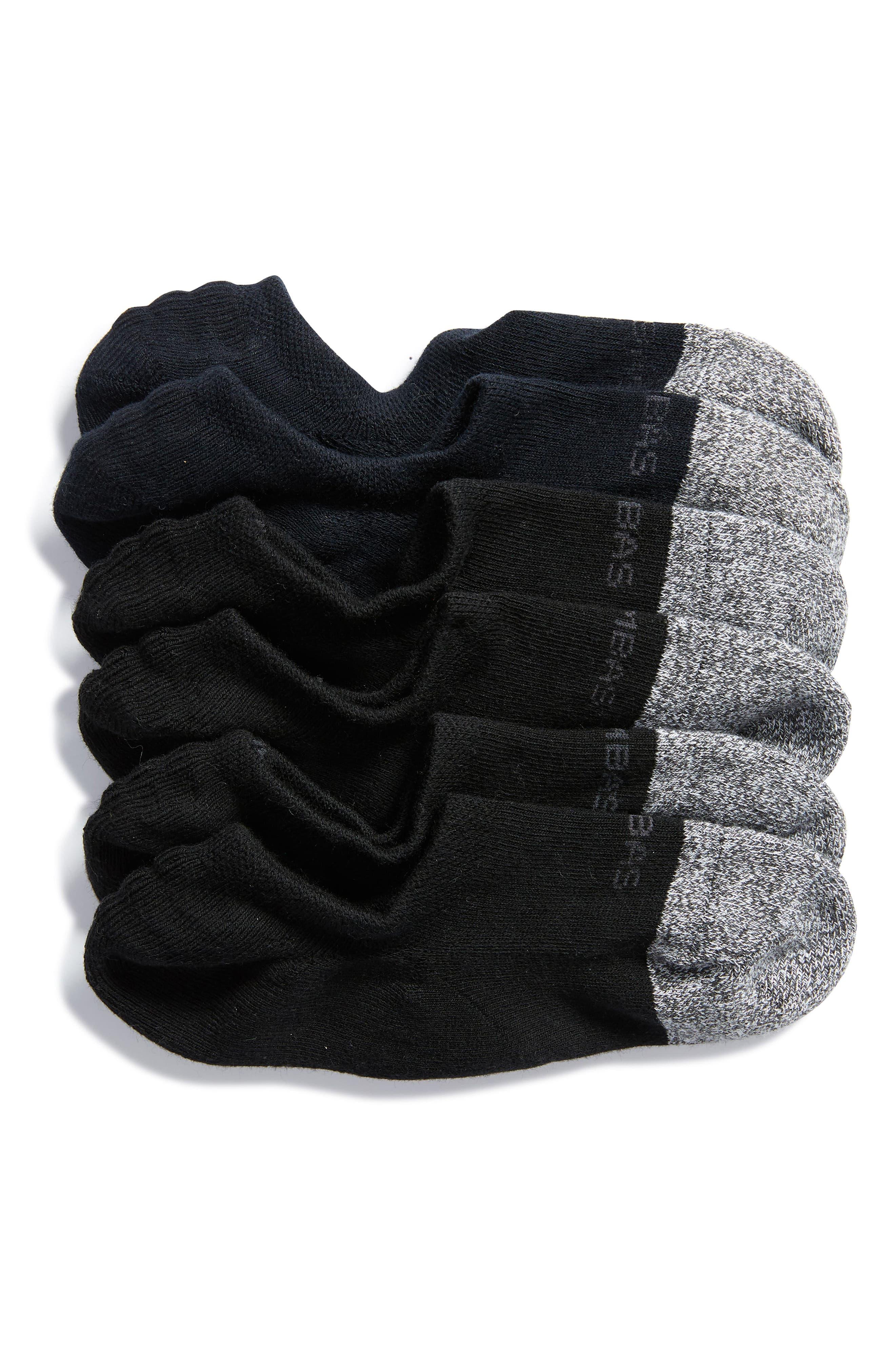 3-Pack Cushion No-Show Socks