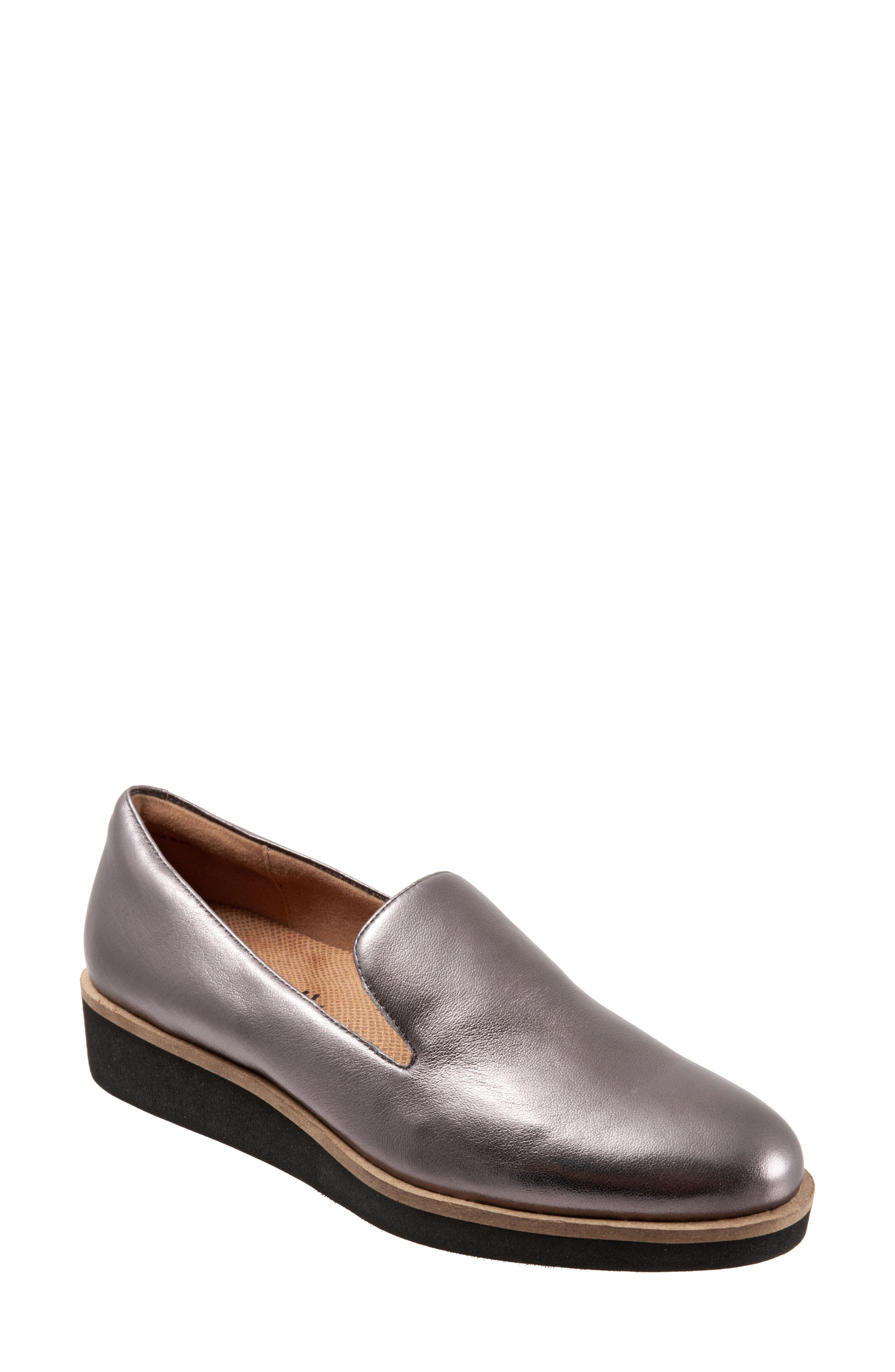 A sophisticated staple for the office and beyond, this leather loafter is finished with contrasting trim and a low heel. Style Name: Softwalk Westport Leather Loafer (Women). Style Number: 6129008. Available in stores.