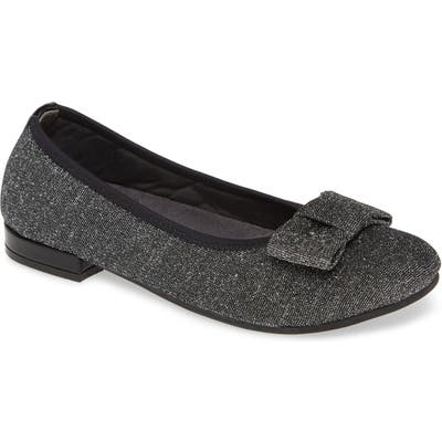 David Tate Teresa Glitter Bow Flat- Metallic