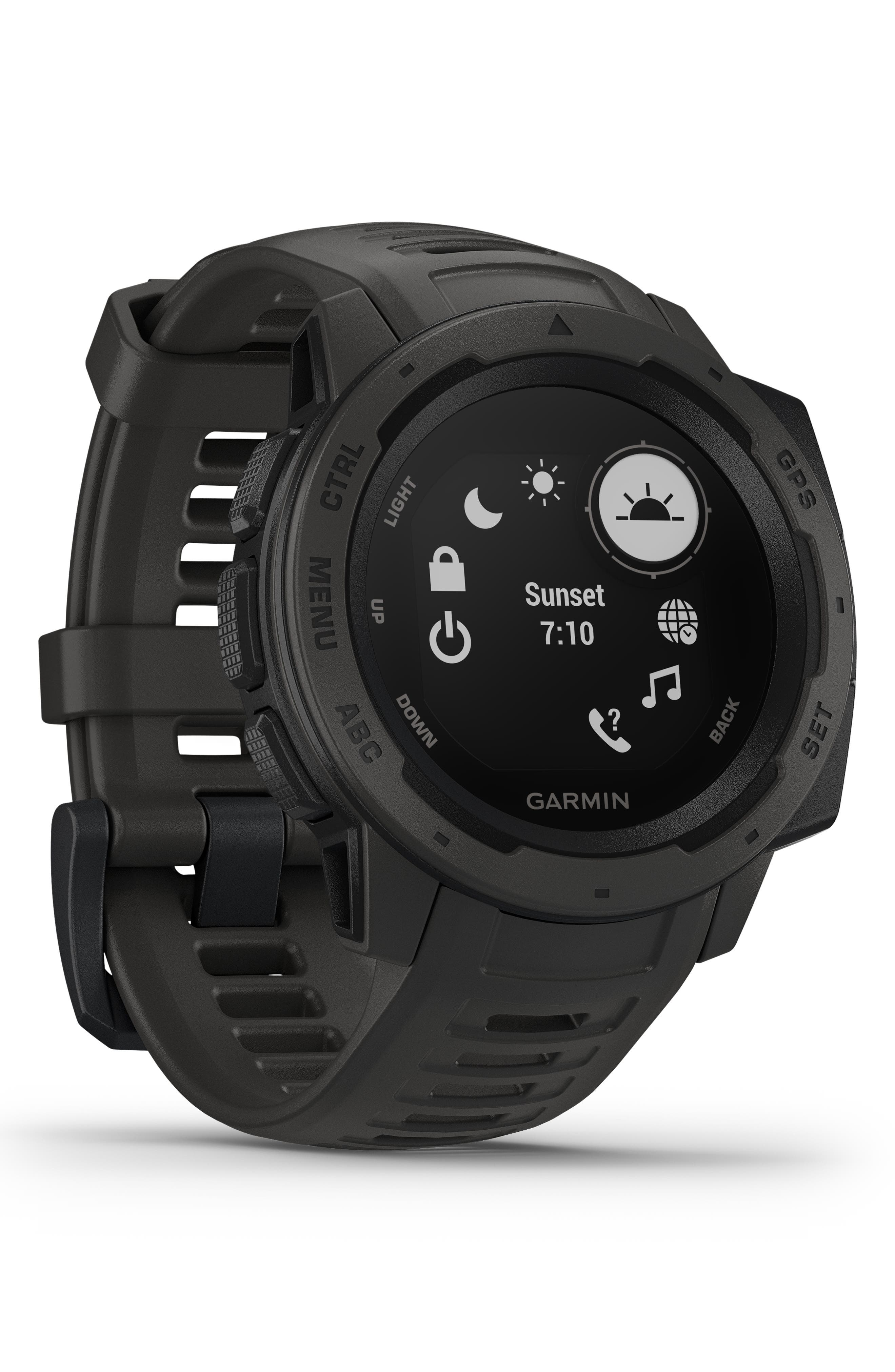 ,                             Instinct<sup>™</sup> Outdoor GPS Watch, 45mm,                             Alternate thumbnail 9, color,                             GRAPHITE