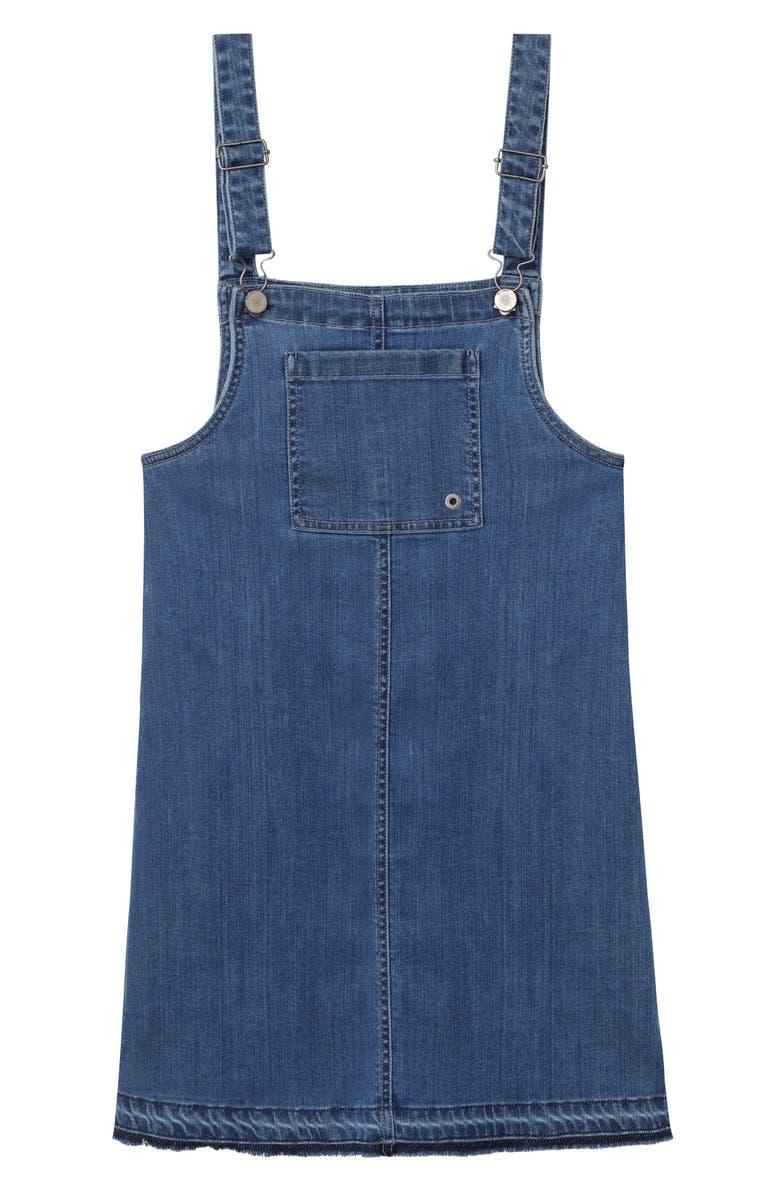 DL1961 Denim Pinafore Dress, Main, color, 400