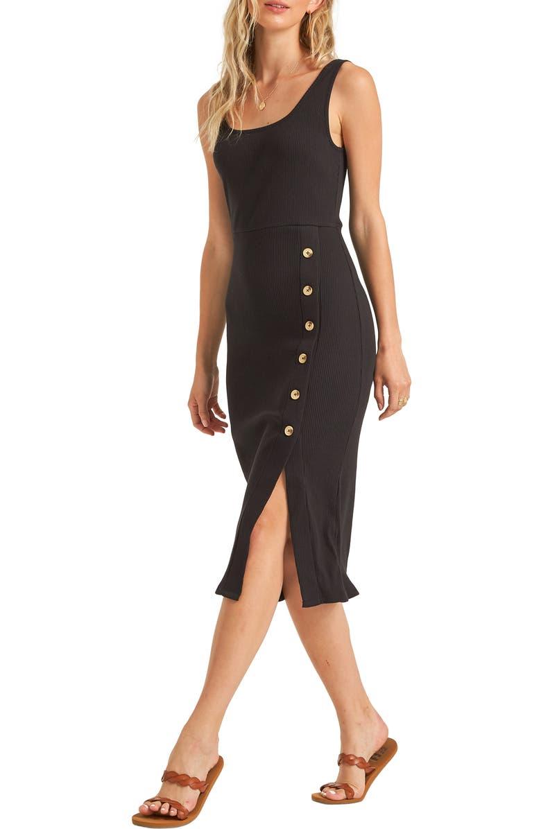 BILLABONG Nissi Rib Midi Dress, Main, color, 001