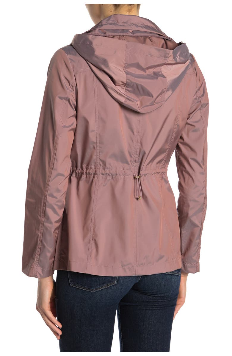 COLE HAAN Water Repellent Hooded Parka, Main, color, MAUVE
