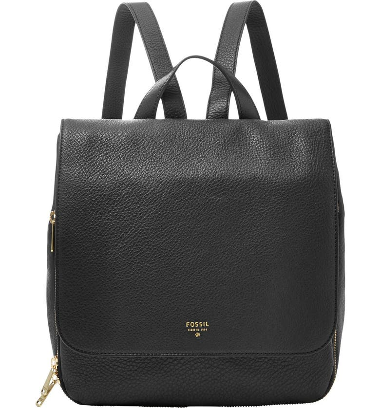 FOSSIL 'Preston' Leather Backpack, Main, color, 001