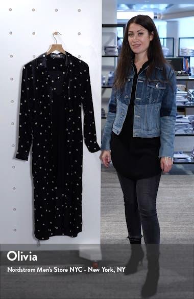 Belted Silk Shirtdress, sales video thumbnail