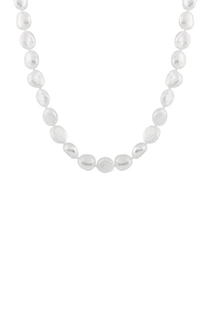 Image of Splendid Pearls Baroque Grey 12-13mm Freshwater Pearl Necklace