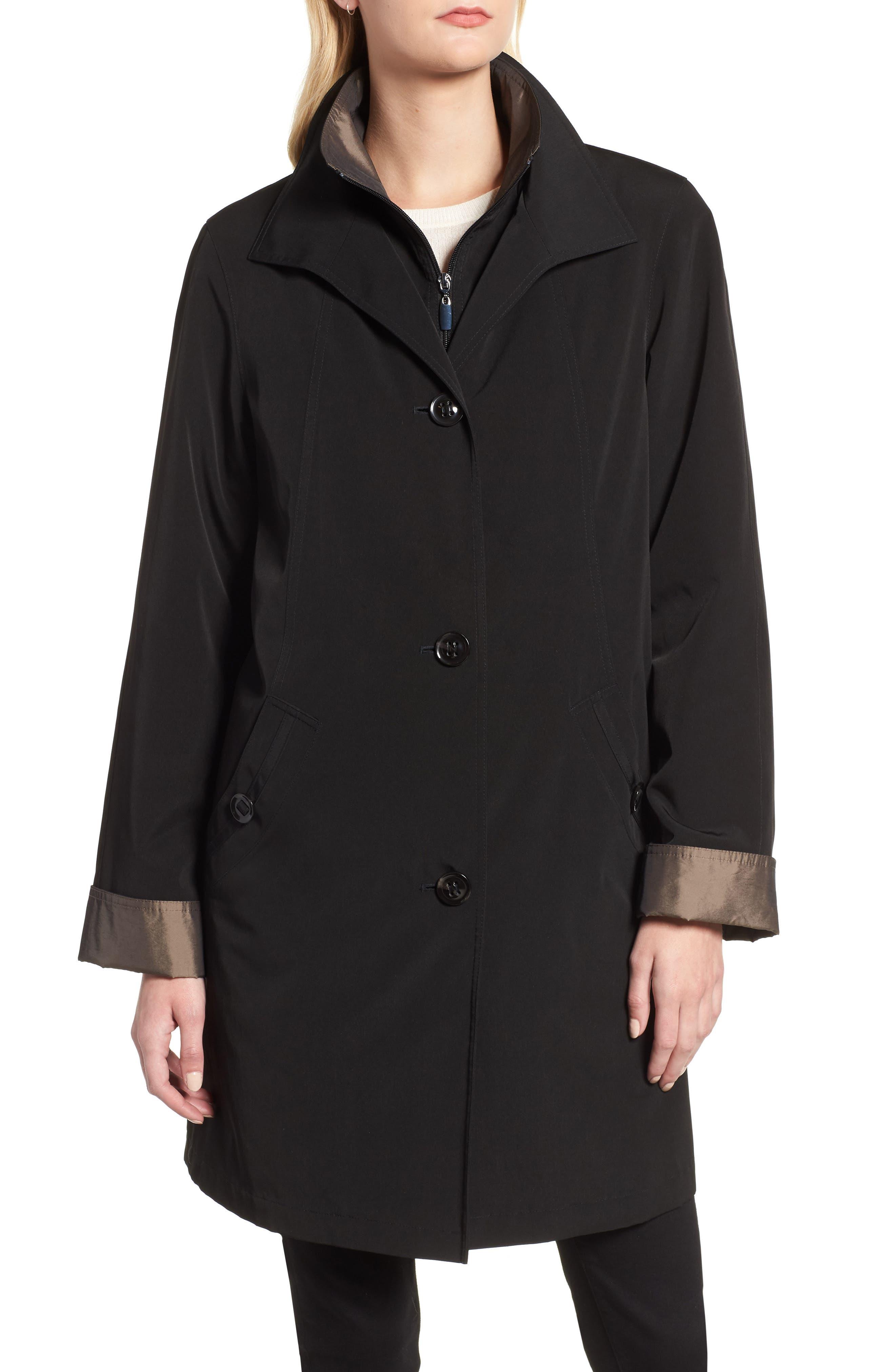 ,                             Detachable Hood & Liner Raincoat,                             Alternate thumbnail 5, color,                             001