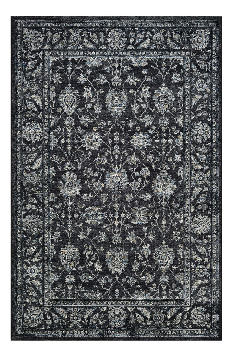 COURISTAN Mashhad Indoor/Outdoor Rug, Main, color, BLACK