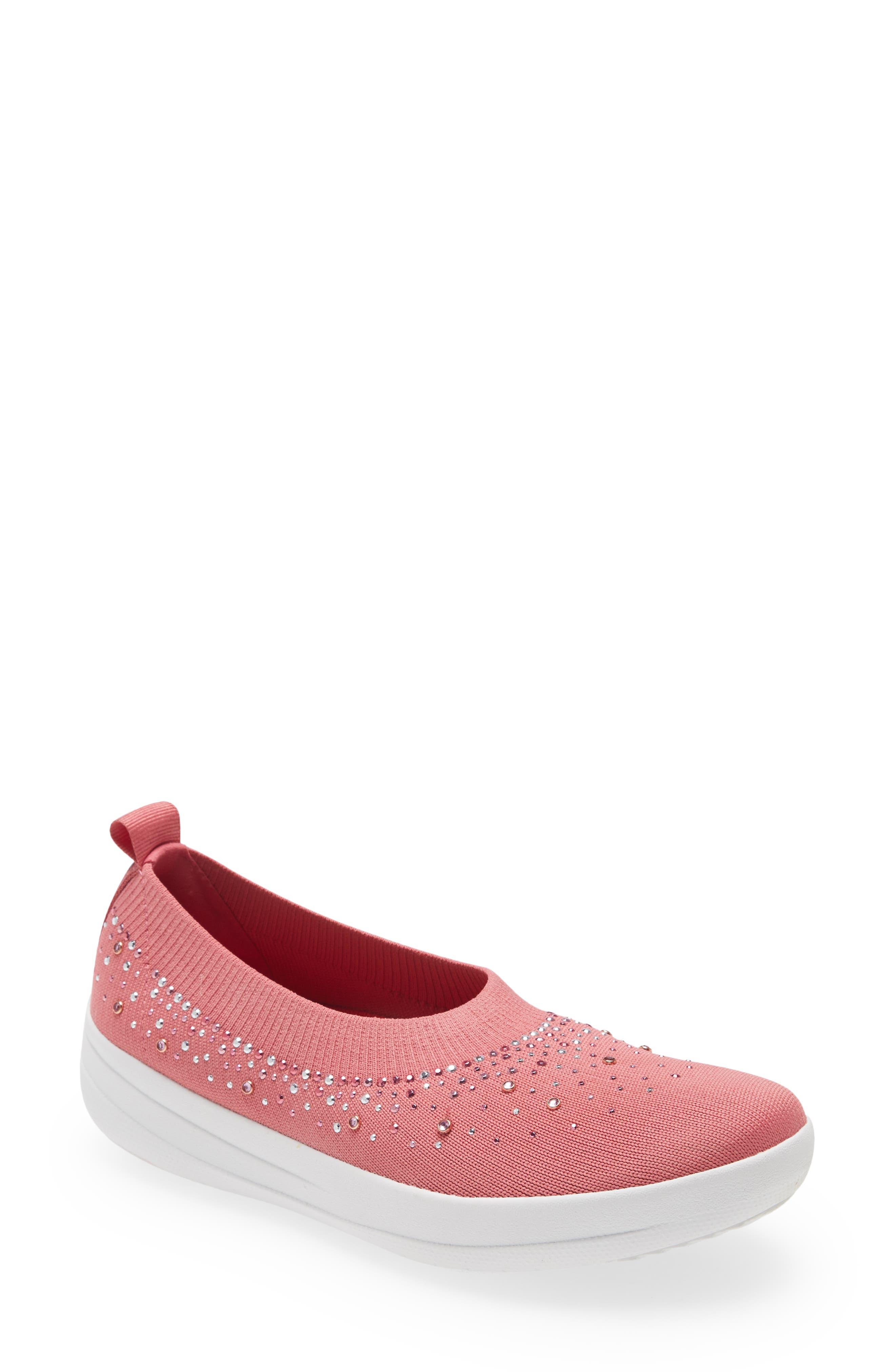 Uberknit(TM) Crystal Ballerina Slip-On Sneaker