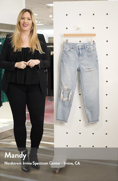 High Waist Ripped Mom Jeans, sales video thumbnail
