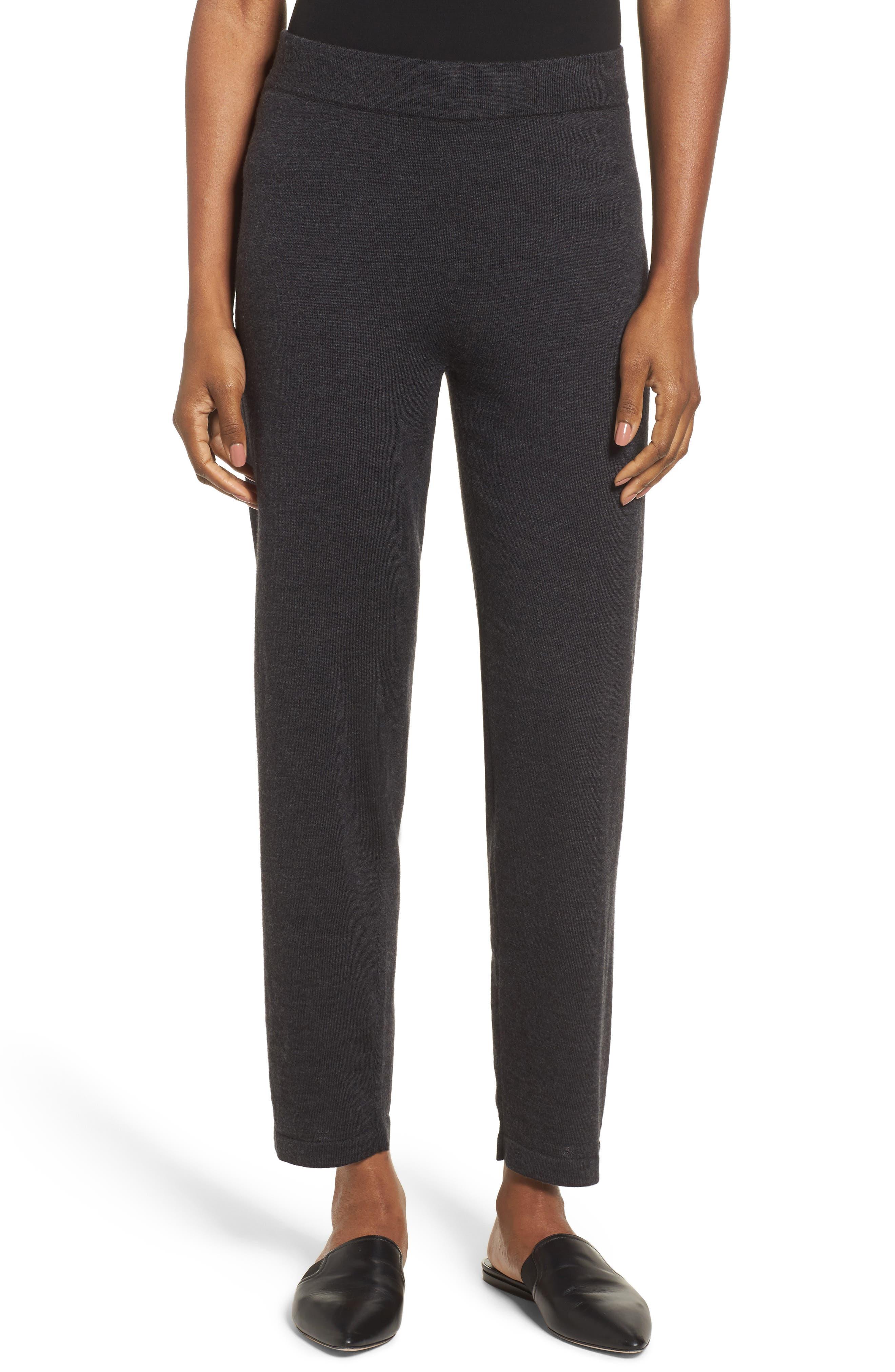 Image of Eileen Fisher Merino Wool Ankle Pants