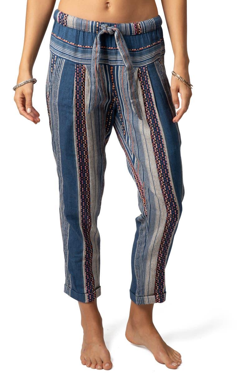 RIP CURL River Song Stripe Pants, Main, color, 493