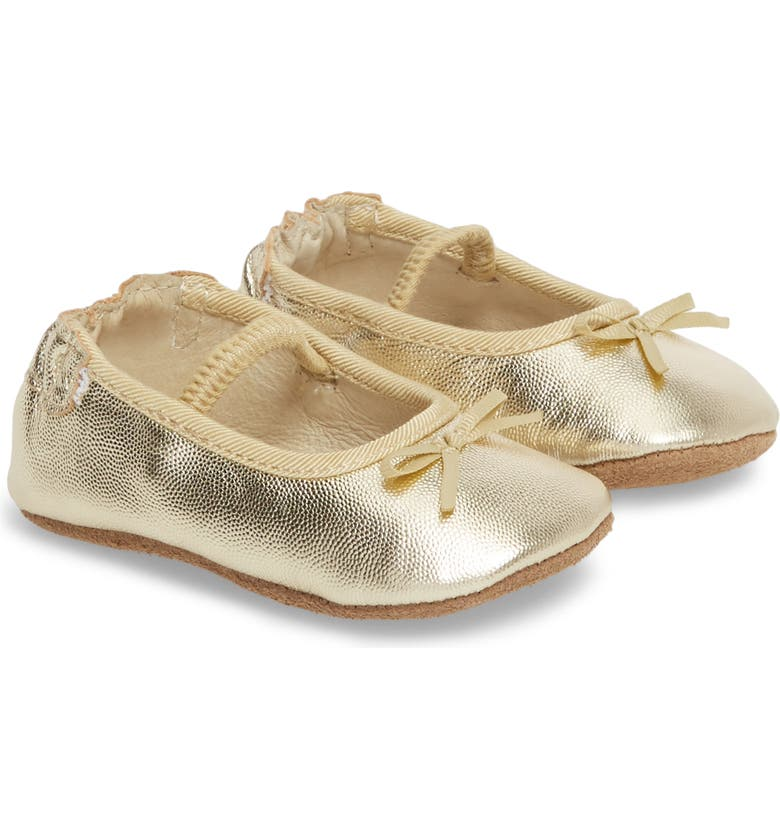 ROBEEZ<SUP>®</SUP> Athena Ballet Strap Crib Shoe, Main, color, 710