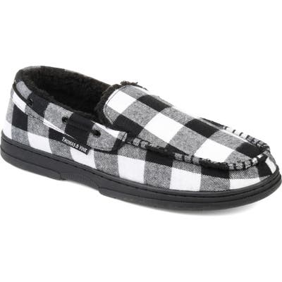 Thomas And Vine Talon Moccasin Slipper With Faux Fur