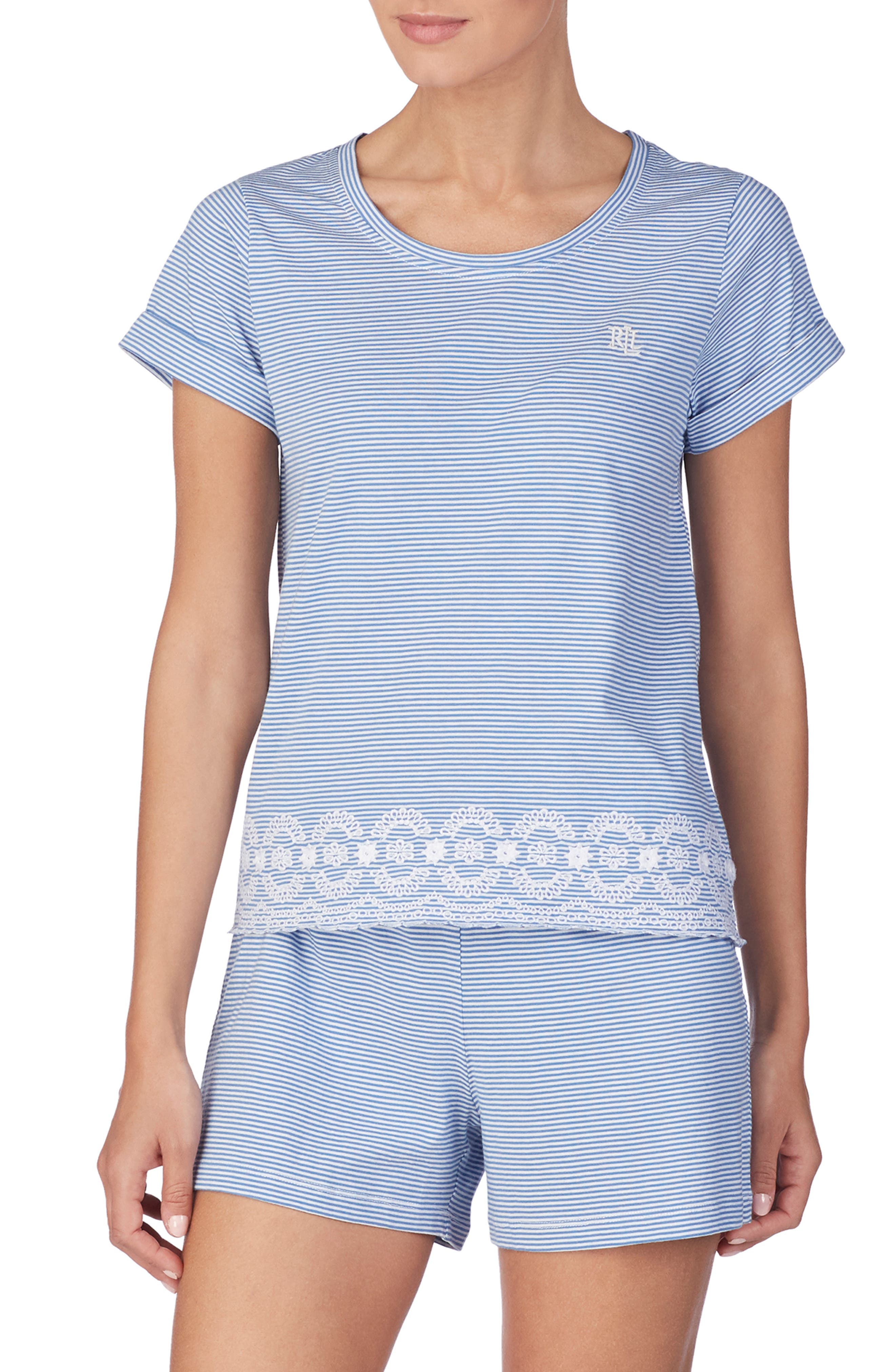 Lauren Ralph Lauren Short Pajamas, Blue