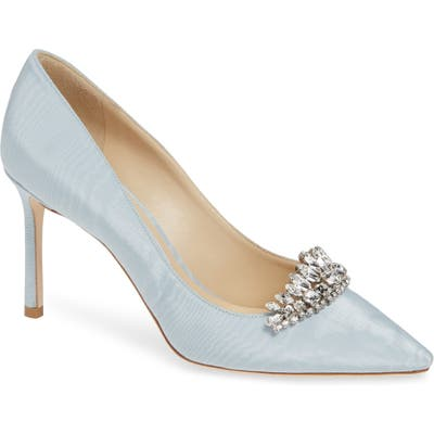Jimmy Choo Romy Crystal Embellished Pump, Blue