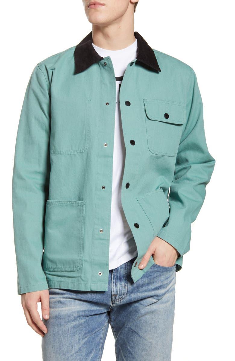 VANS Drill Canvas Chore Coat, Main, color, 400