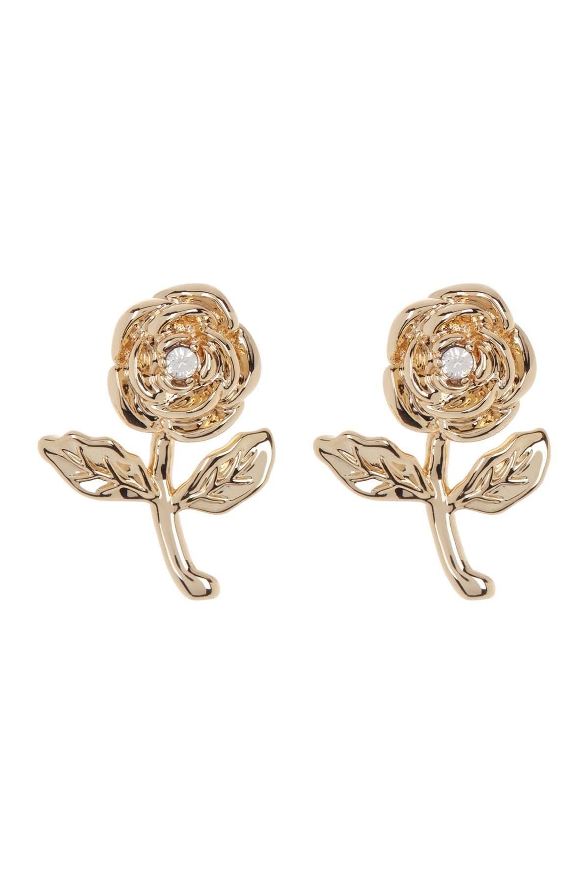 Image of Rebecca Minkoff Curb Chain Drop Huggie Earrings