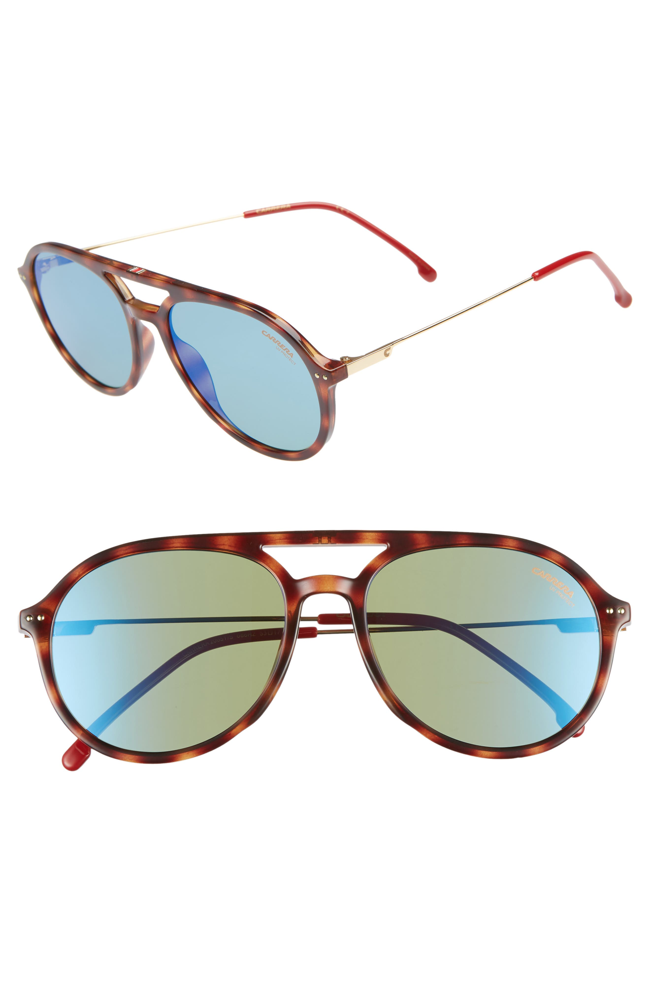 Carrera Eyewear 5m Aviator Sunglasses - Dark Havana