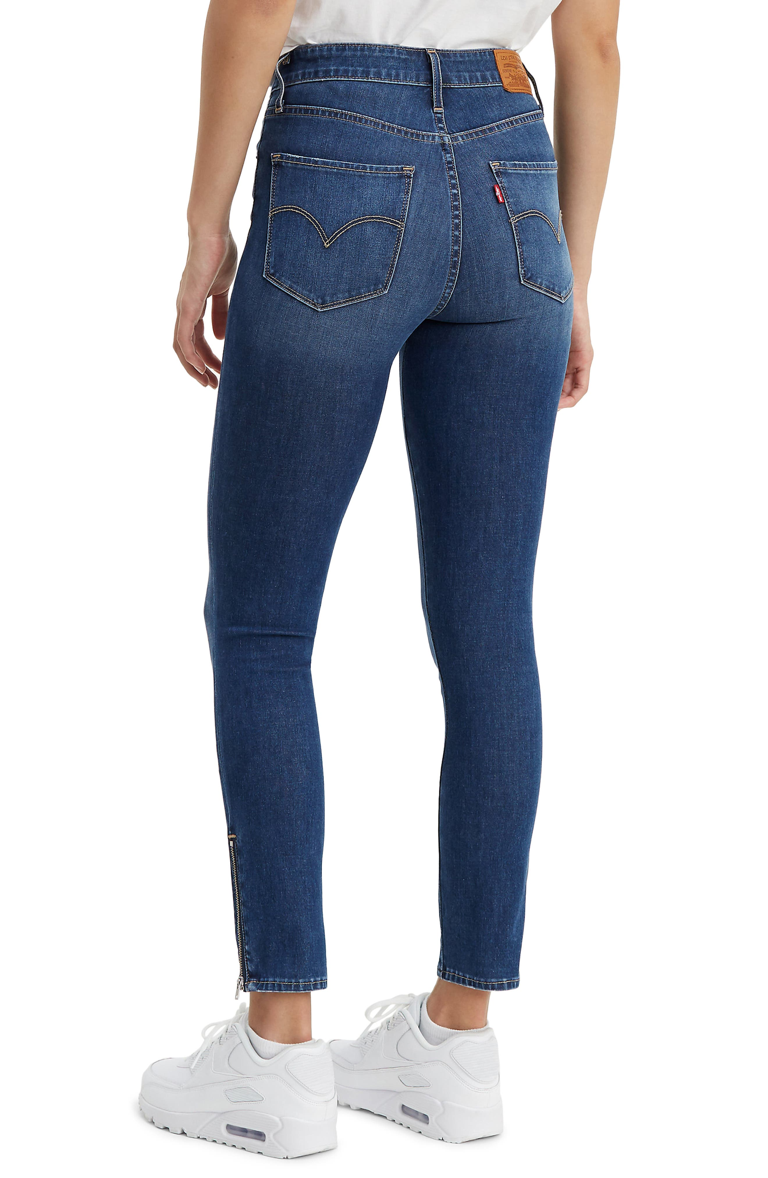 ,                             721<sup>™</sup> High Waist Ankle Zip Skinny Jeans,                             Alternate thumbnail 2, color,                             UNDER THE WIRE