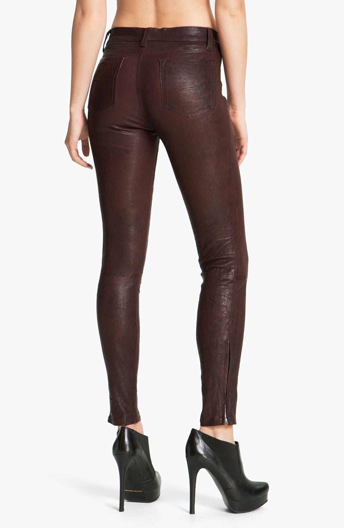 ,                             '8001' Lambskin Leather Pants,                             Alternate thumbnail 82, color,                             930
