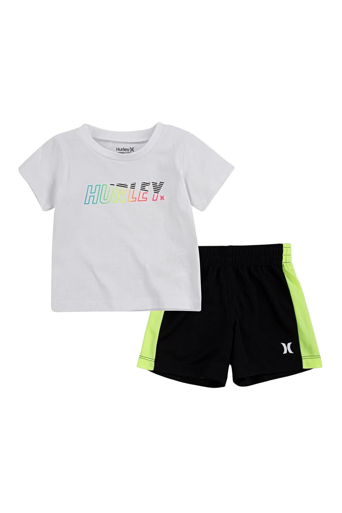 Image of Hurley On Shore T-Shirt & Shorts Set
