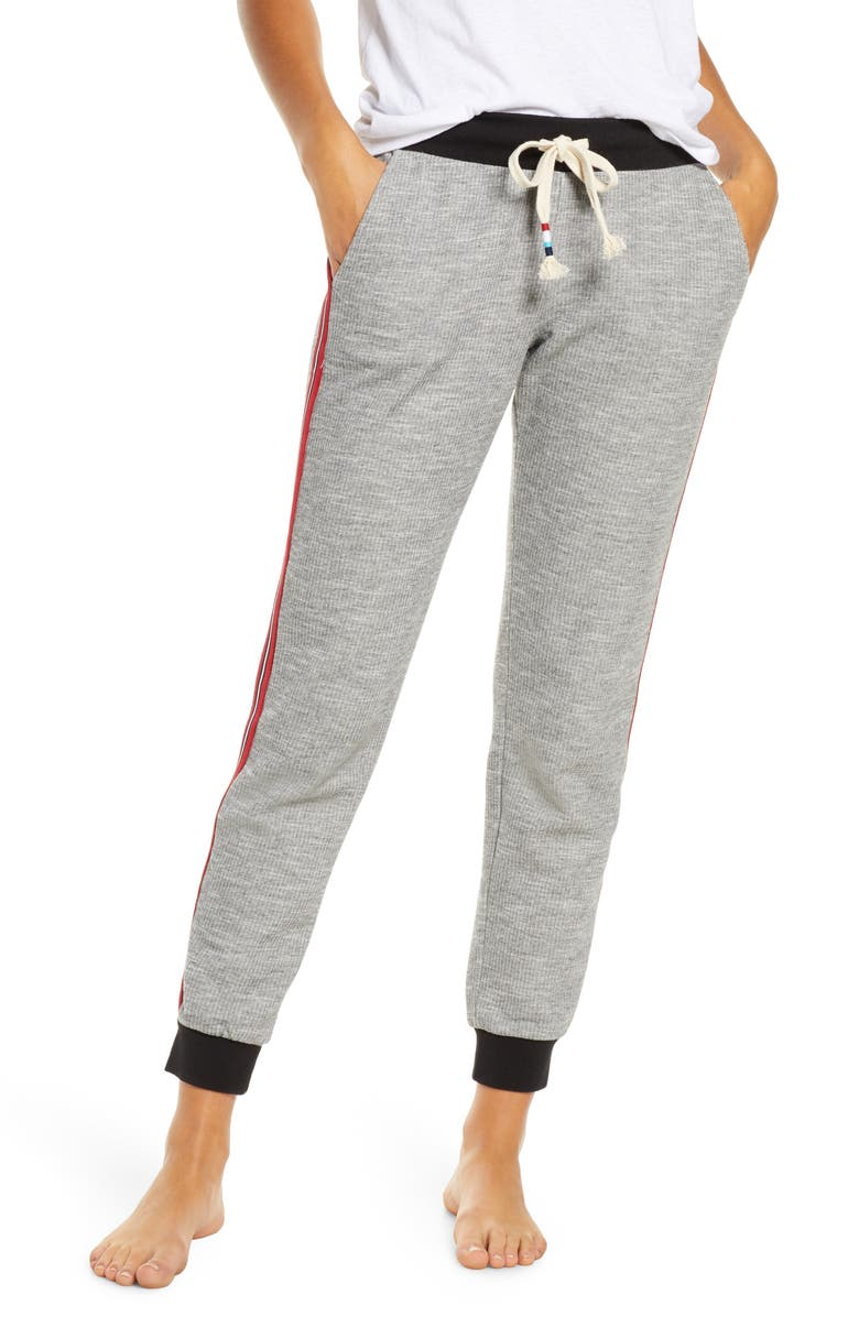 SOL ANGELES Side Stripe Lounge Jogger Pants, Main, color, BLACK