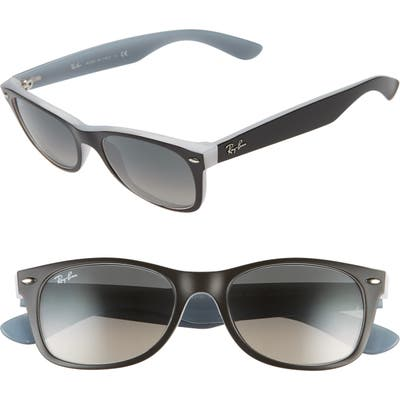 Ray-Ban 52Mm Square Sunglasses - Shiny Blk