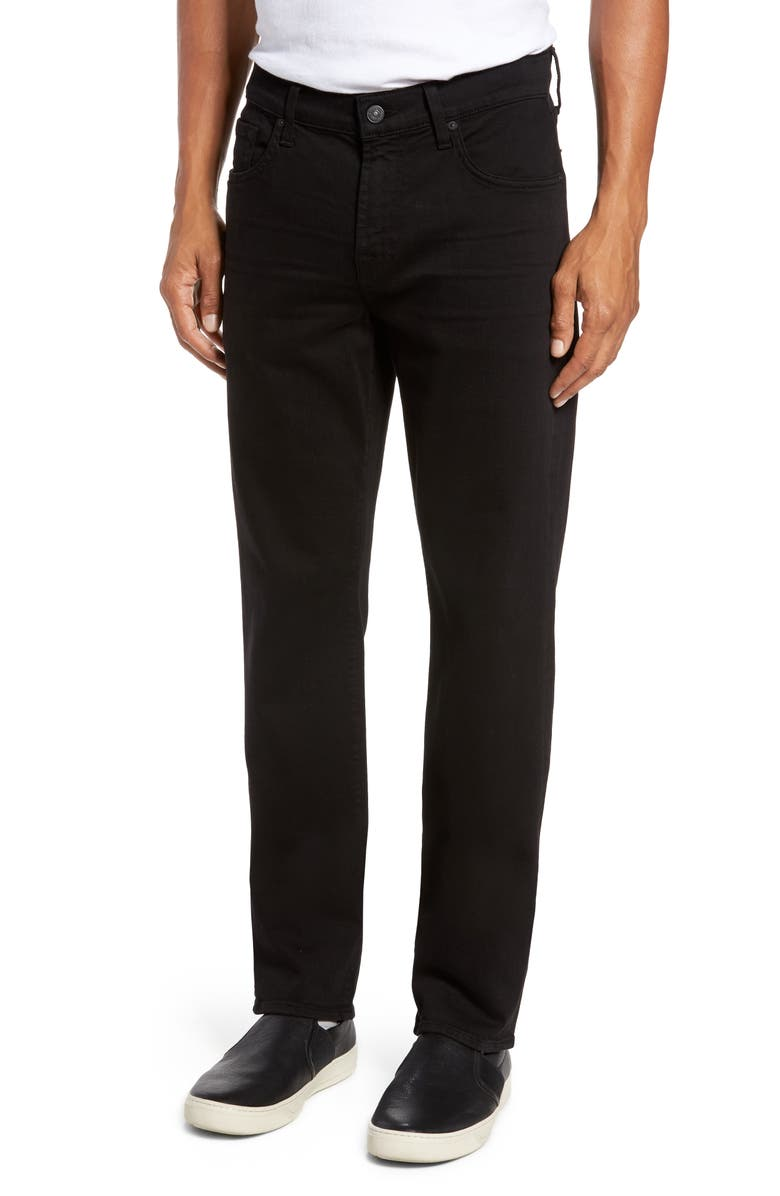 7 FOR ALL MANKIND<SUP>®</SUP> Slimmy Luxe Performance Slim Fit Jeans, Main, color, ANNEX BLACK