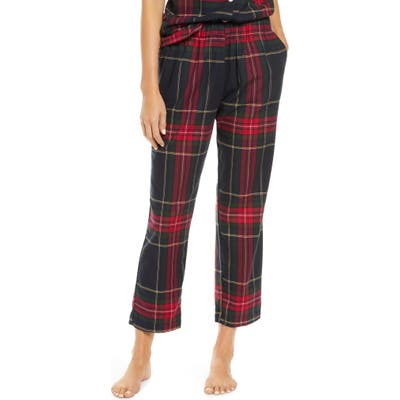 Maison Du Soir Positano Plaid Pajama Pants, Black