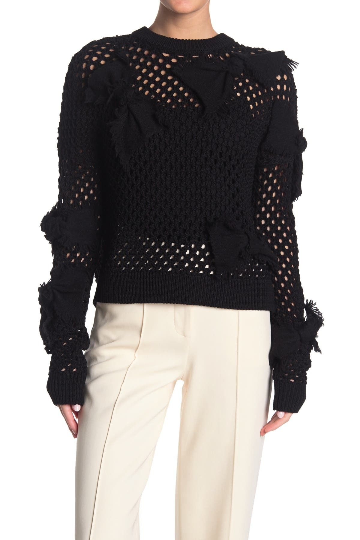 Image of RED Valentino Bow Knit Pullover
