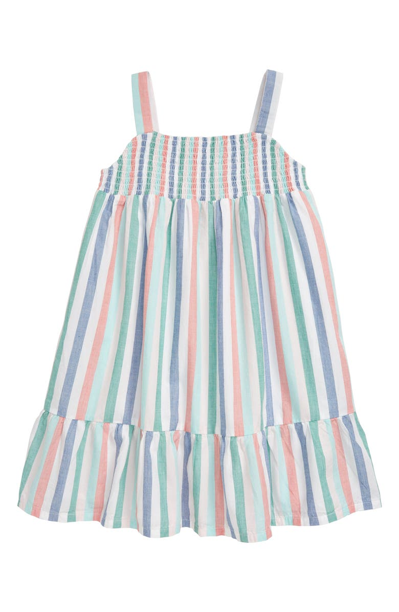 TUCKER + TATE Rainbow Stripe Sundress, Main, color, WHITE- MULTI VERTICAL STRIPE