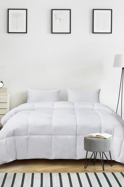 Image of Blue Ridge Home Fashions Kathy Ireland Ultra-Soft Nano-Touch Extra Warmth White Down Fiber Comforter - Twin