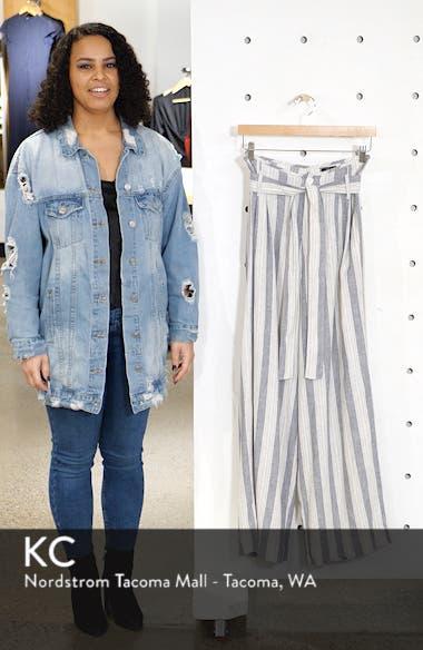 Jess Linen Blend Paperbag Waist Pants, sales video thumbnail