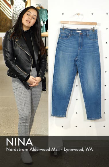 High Waist Tapered Ankle Jeans, sales video thumbnail