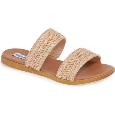 Steve Madden Dual Woven Slide Sandal, Brown