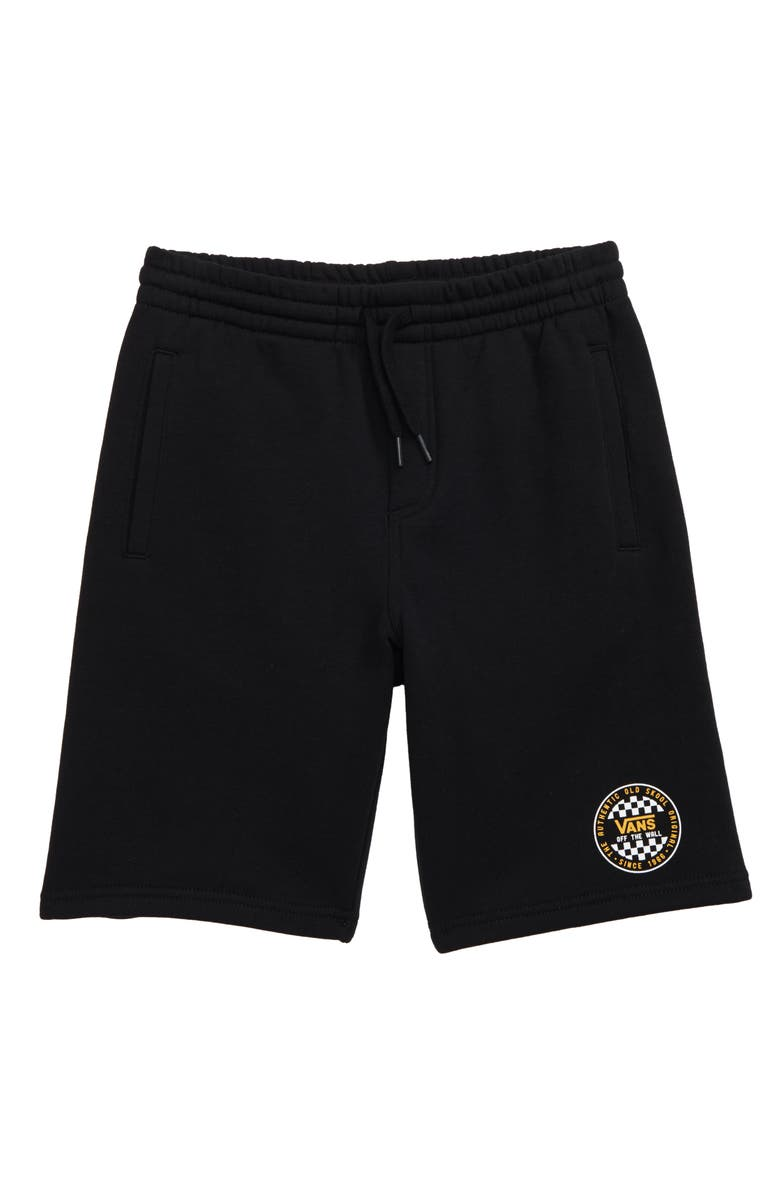 VANS Checker Fleece Shorts, Main, color, 001