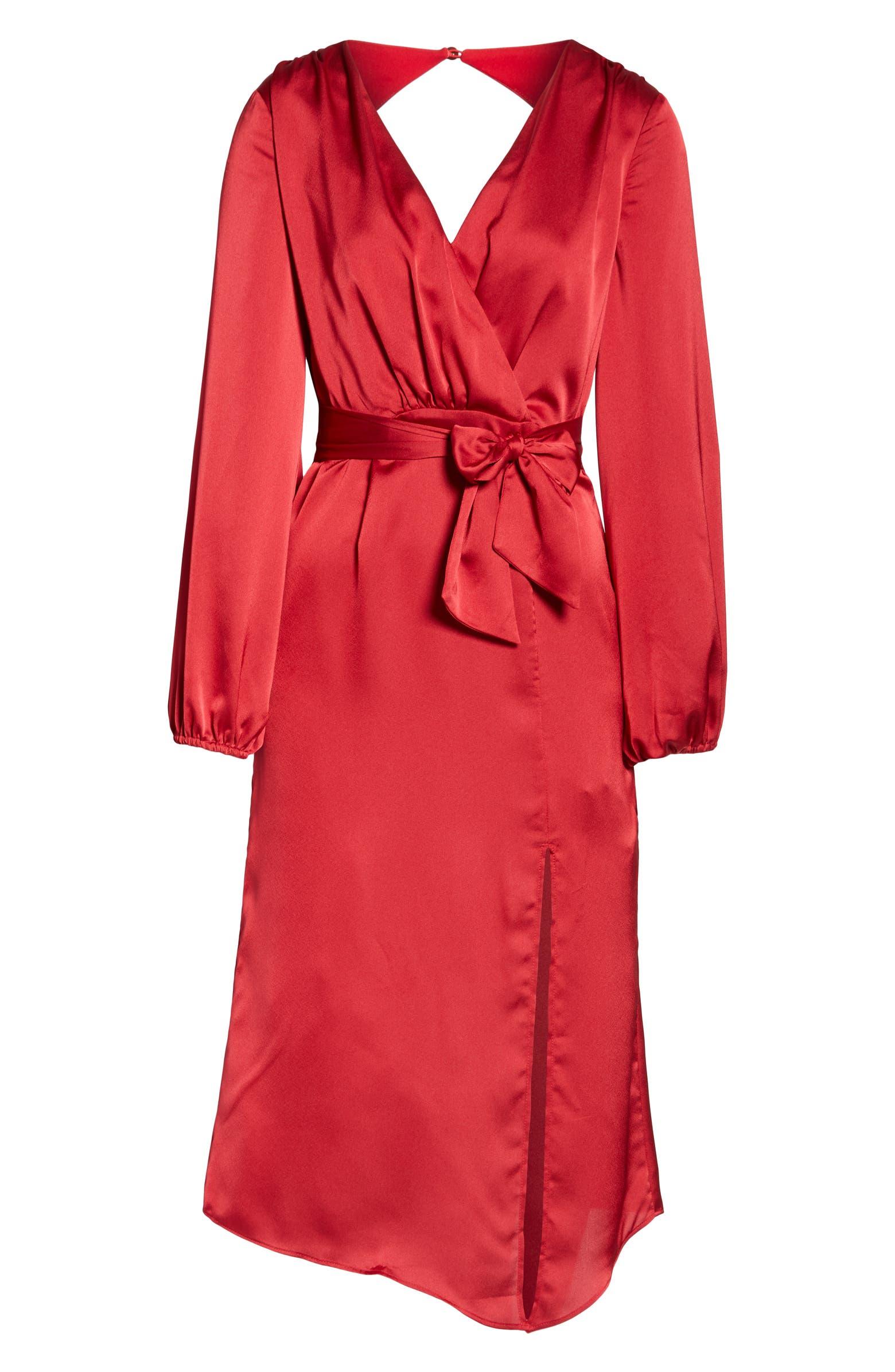 Emilia Long Sleeve Satin Dress FINDERS KEEPERS
