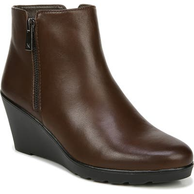 Naturalizer Landry Water Resistant Wedge Bootie- Brown