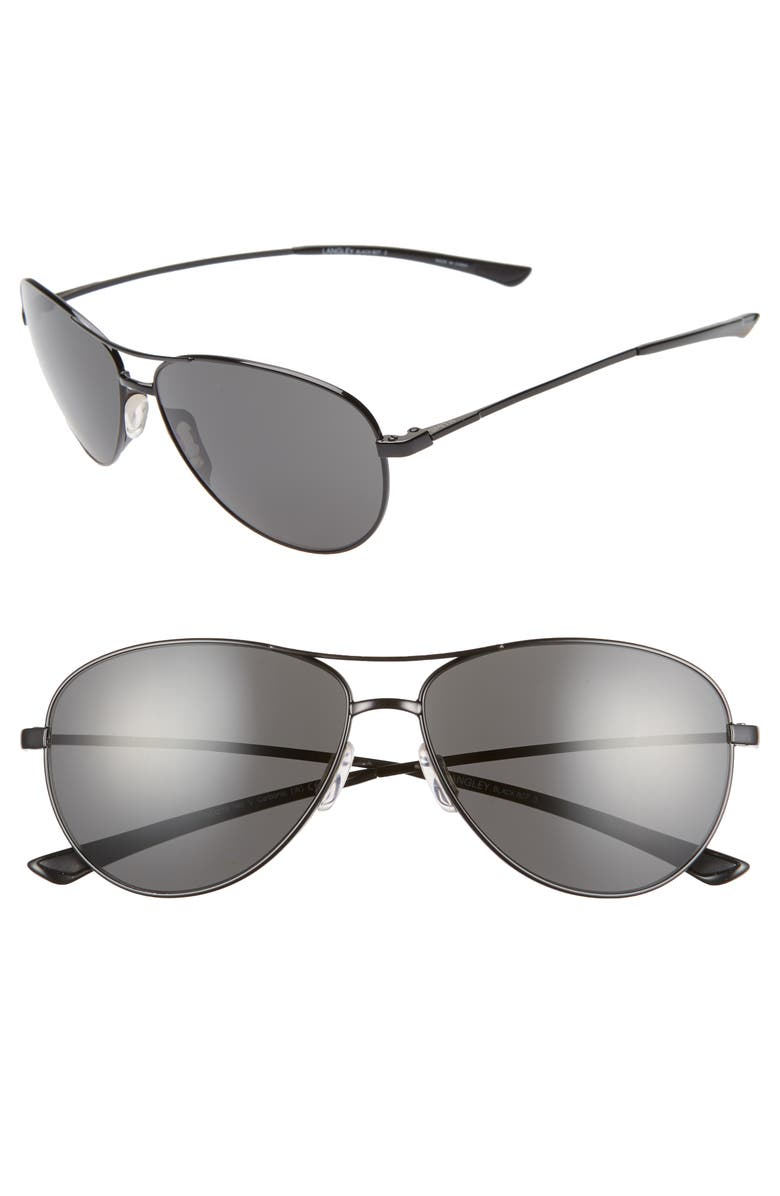 SMITH 'Langley' 60mm Aviator Sunglasses, Main, color, BLACK/ BLACK