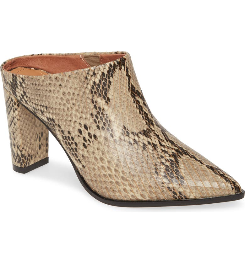 ALIAS MAE Rue Mule, Main, color, BEIGE SNAKE PRINT LEATHER